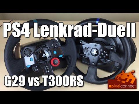 PS4 Lenkrad-Duell - Logitech G29 vs Thrustmaster T300RS