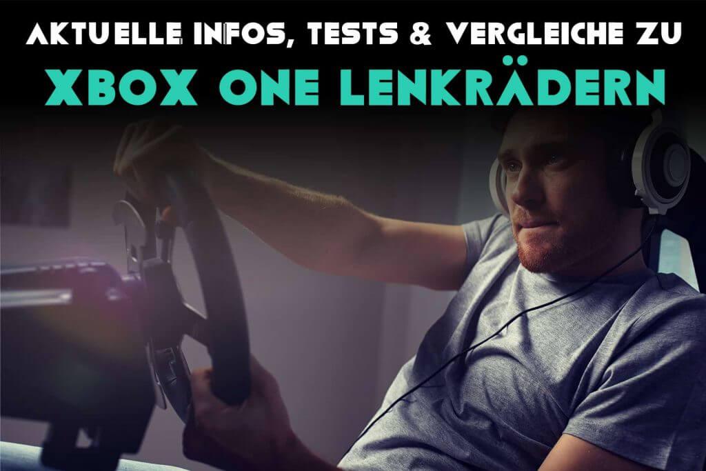 Mann zockt auf Xbox One Lenkrad