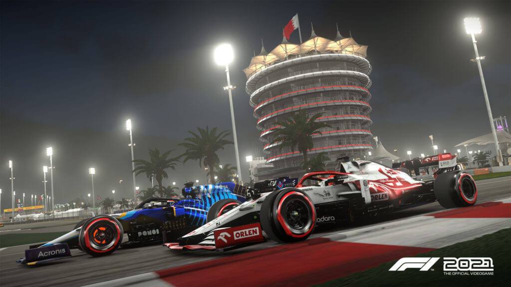 F1 2021 cars night